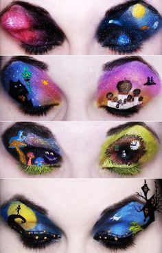Crazy eye makeup for girls