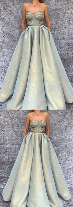 2018 Chic A-Line Sweetheart Spaghetti Straps Modest Long with Pockets Prom Dresses uk PH486,#sleeveless#elegant#prom#dress#promdress#long#cheap#simple