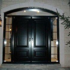 Double Front Door With Sidelights exterior door-woodgrain fibergllass solid double front door with 2