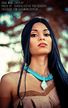 Pocahontas cosplay great closeup of neck line and necklace