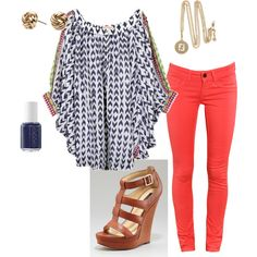 Summer nights, created by emily-fredrickson.polyvore.com