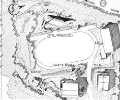 Plan masse de l'ensemble des pavillons