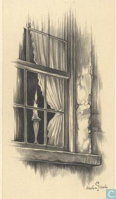 Anton Pieck – Original drawing – Catharine Carter – - New Pin Landscape Pencil Drawings, Pencil Art Drawings, Art Drawings Sketches, Cool Drawings, Illustrator, Dutch Artists, Sketch Painting, Illustration Art, Artwork