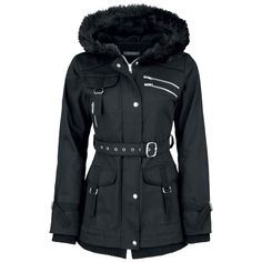 "Gothicana by EMP Winterjacke, Frauen ""Multi Pocket Jacket"" schwarz • EMP"
