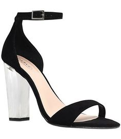 Gravity Heeled Sandals - black and white