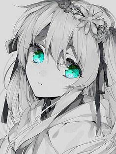 Kết quả hình ảnh cho anime girl lạnh lùng trắng đen lạnh lùng
