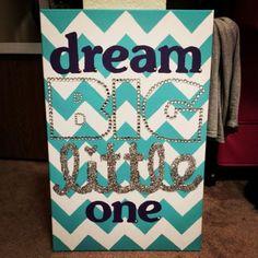 Sorority DIY Canvas Dream Big Little One Sorority Gift Sorority Crafts Big and Little by kendra