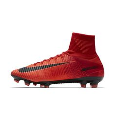 Nike Mercurial Superfly V Firm-Ground Soccer Cleats Size 12.5 (Red)