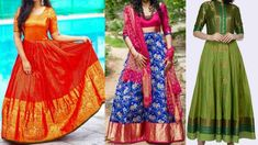 Gowns ideas from old sarees | Reuse old sarees