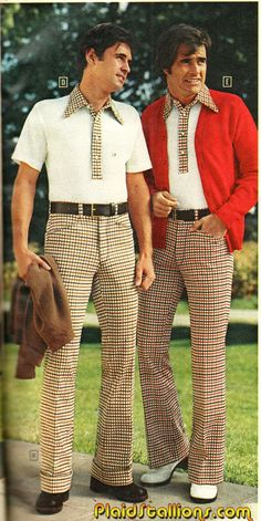 In the Real Men Wore Flared Trousers and Flowery T-Shirts. How Cool Do These Guys Look? ~ vintage everyday : In the Real Men Wore Flared Trousers and Flowery T-Shirts. How Cool Do These Guys Look? 80s Punk Fashion, 70s Inspired Fashion, Retro Fashion, 1960s Fashion Mens, Vintage Fashion Men, Lolita Fashion, Punk Mode, 70s Mode, Look Vintage