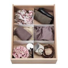IKEA - HÖFTA, Avdelare för låda, 55x10 cm, , Med avdelaren kan du snabbt och enkelt organisera dina lådor som du vill – bara klipp och sätt ihop efter behov.Vill du ha fler fack kompletterar du bara med fler avdelare.