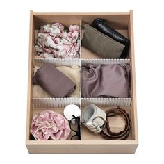 IKEA - HÖFTA, Divider for drawer, 55x10 cm, , The divider helps you to quickly and easily organise your drawers as you like – just cut and put together to suit your needs.If you want more compartments just add more dividers.
