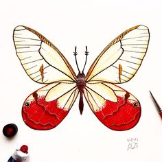 """Day 19 of my challenge #100daybutterflies #100daychallenge """"Cithaerias Pireta"""" it is found from Mexico to South America #arts_help #art_we_inspire #imaginationarts #artdaily #craftsposure #challenge #art #painting #illustration #butterfly #handdrawnart #valleyofbutterflies #nature #phooftheday #doodle #love #bw #rtistic_feature #featuregalaxy #creative_instaarts  #me #worldbutterflies #happy #watercolor #acrylic #paint #artist_sharing #phanasu @craftsposure"""