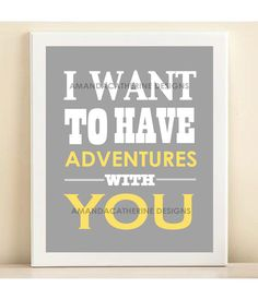 Blue Adventures print poster by AmandaCatherineDes on Etsy. $15.00 USD, via Etsy.