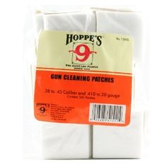 Hoppe's Gun Cleaning Patch for .38 - .45 Caliber 500 Pack, Poly Bag - $7.49