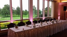 Michelle and Donnie's head table at their reception at Lake View Country Club in North East, PA.