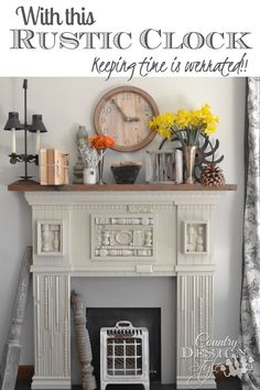 Large Rustic Clock | Country Design Style