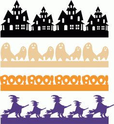 Halloween borders set (1)----------------------I think I'm in love with this shape from the Silhouette Online Store!