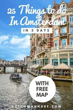 3 Days In Amsterdam, Visit Amsterdam, Amsterdam City, Amsterdam Travel, Amsterdam Netherlands, Amsterdam Things To Do In, Netherlands Facts, Destination Voyage, European Destination