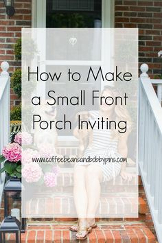 Sharing tips on how we took our boring front porch and turned it from uninviting to inviting! I love how it came out and the Mackenzie-Childs pieces we used