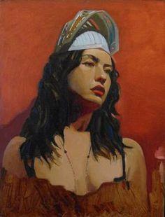 """Saatchi Art Artist Michael Foulkrod; Painting, """"Plastic Helmet"""" #art"""
