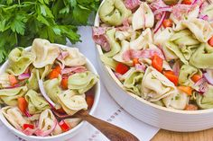 {zesty tortellini salad} perfect for summer cook-outs.