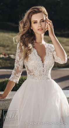 Featuring their sexy-chic signature style, the Wedding Dresses by Florence Wedding Fashion 2019 Summer Jazz Bridal Collection are out of this world. Plus Wedding Dresses, Luxury Wedding Dress, Gorgeous Wedding Dress, Bridal Dresses, Gown Wedding, Elegant Wedding, Lace Wedding, Unusual Dresses, A Line Bridal Gowns