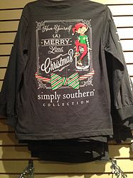 simply southern grey christmas long sleeve shirt christmas tee shirts christmas long sleeve shirts - Southern Womens Christmas Show