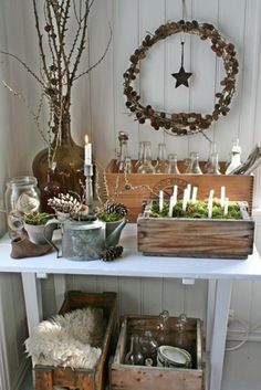 Decorating With Nature Christmas Decoration With Natural Materials Natural Christmas Decor