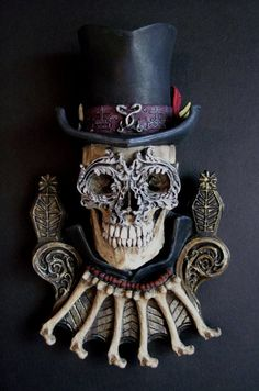 Baron Samedi is a Vodou Loa, or sacred spirit who presides over the dead. He is a guardian of the crossroads between life and death, and guides the departed into the underworld. He has power over sexuality, rebirth, and healing, and can offer protection against curses and black magic.