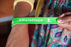 We love the #throwback flair to these cool #MoreHope wristbands! The best part is the proceeds go to St. Jude kids! #MoreHope