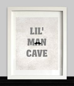 Lil Man Cave Print / / jongens Wall Art / / door NothingPanda