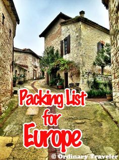 What to pack for a trip to Europe!