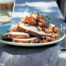 Apple-Glazed Pork Loin Roast with Apple-Ham Stuffing II Recipe