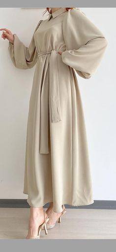 Modest Fashion Hijab, Street Hijab Fashion, Modesty Fashion, Modest Outfits, Casual Dresses, Fashion Outfits, Fashion Muslimah, Moslem Fashion, Hijab Fashionista