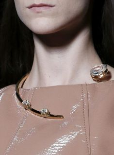 Half Loop Necklace - runway fashion details; statement jewellery // Miu Miu Spring 2013