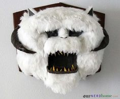 Wall-Mounted DIY Star Wars Wampa Head - Our Nerd Home