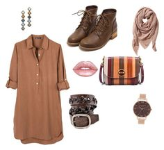 """""""Brown"""" by vikinka-v on Polyvore featuring United by Blue, Tory Burch, Olivia Burton, DANNIJO, TravelSmith and Lime Crime"""