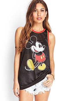Mickey Mouse Mesh Jersey | FOREVER21 - 2000060664