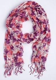 delias purple floral scarf