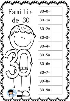 Decimos que dos o más números, con el mismo número de dígitos, son miembros de la misma familia, cuando dos de dichos números tienen al menos un dígito común. Por … Preschool Painting, School Worksheets, 1st Grade Writing Worksheets, School Items, Classroom Language, 1st Grade Math, Math For Kids, Math Lessons, Teaching Math
