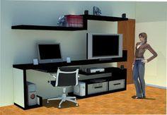 imagenes de muebles para computadora y television | design by debora rennella: EQUIPAMIENTO POLIFUNCIONAL