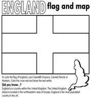Geography For Kids England Flag Coloring Page