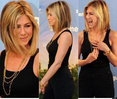 Jennifer Aniston collarbone length bob. adore this length. Might have to wait till I get older though. Im sure itll make me look younger. ;)