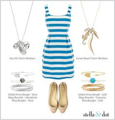 Gold vs. silver beach inspired accessories. Shop at www.stelladot.com/mtuttle