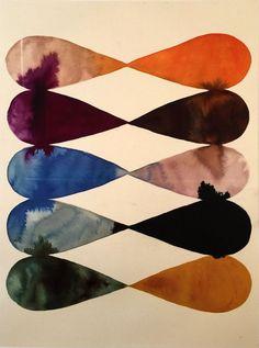 Lourdes Sanchez Abstract Ink Study #8, 2015