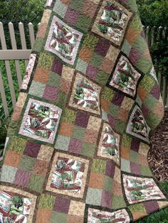 Patchwork Quilt Featuring North American Wild Life