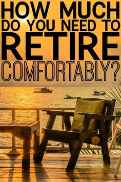 How Much Do You Need to Retire Comfortably? Finance tips for a great retirement. Financial planning can be easy when done right! Retirement, Saving for Retirement