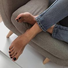 Cute Toes, Pretty Toes, Pretty Nails, Manicure Y Pedicure, Feet Nails, Beautiful Toes, Minimalist Nails, Nagel Gel, Female Feet