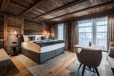 Le 20 più belle Baite in Trentino / The Lost Avocado Atrium, Alpine Style, Chalet Style, Relaxation Room, Luxury Rooms, Living Room With Fireplace, Open Plan Living, Living Area, Interior Architecture